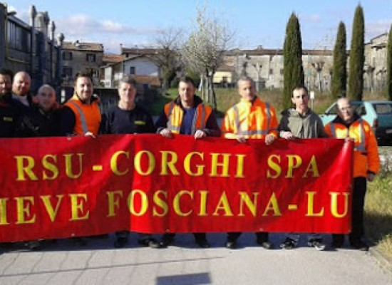 Corghi di Pieve Fosciana in sciopero per difendere la produzione