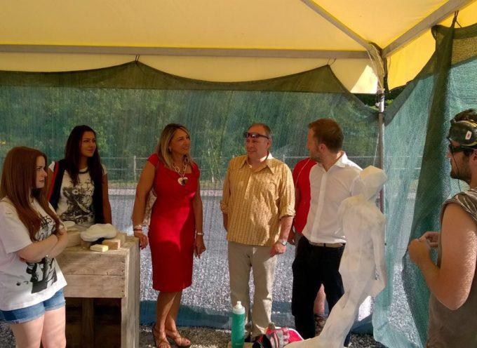 """Digital Stone Project, Giovannetti con l'assessore Grieco al workshop a Gramolazzo. """"Orgoglio e soddisfazione"""""""