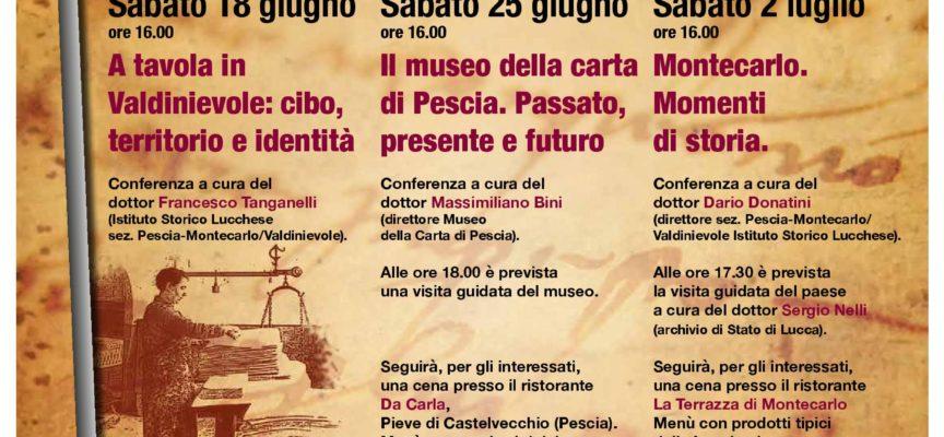 Ciclo di Conferenze su aspetti storici della Valdinievole.