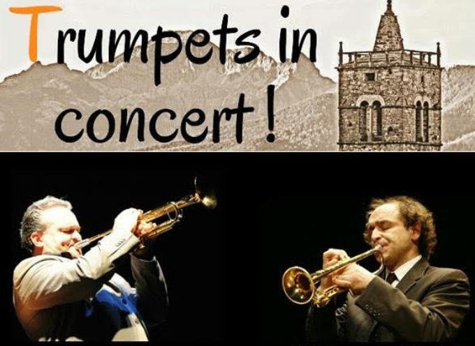 Le magiche trombe di Tamiati e Tofanelli in concerto a Corfino, sabato 2 Luglio ore 18.30