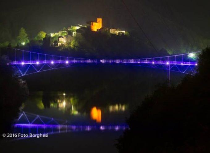'inaugurazione del ponte a funi sospese a Vagli Sotto, domenica 19 Giugno 2016