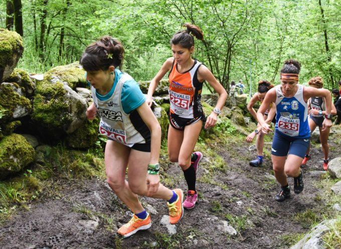 Le ragazze del G.S. Orecchiella brillano in montagna, trail e corsa in salita.