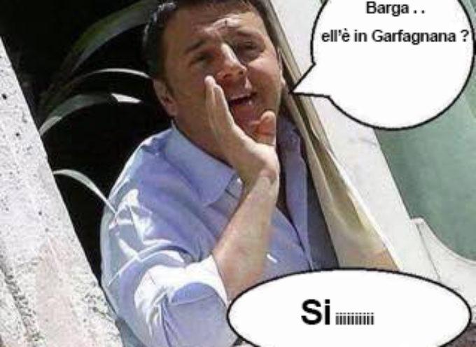 """Renzi . . . """"non mi spaventano i fischi … ho arbitrato in Garfagnana"""""""