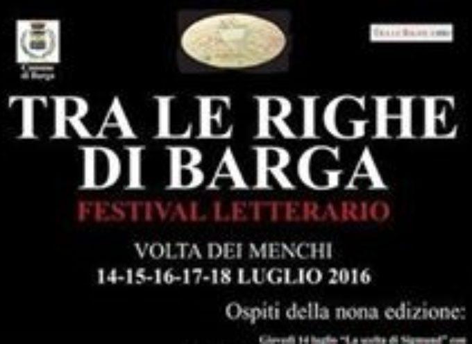"""BARGA – Torna il festival letterario """" TRA LE RIGHE DI BARGA"""