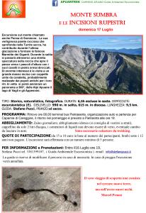 17 luglio monte sumbra e le incisioni rupestri Apuantrek