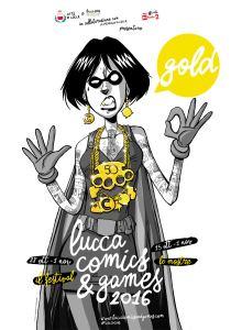 Poster Lucca Comics & Games Gold