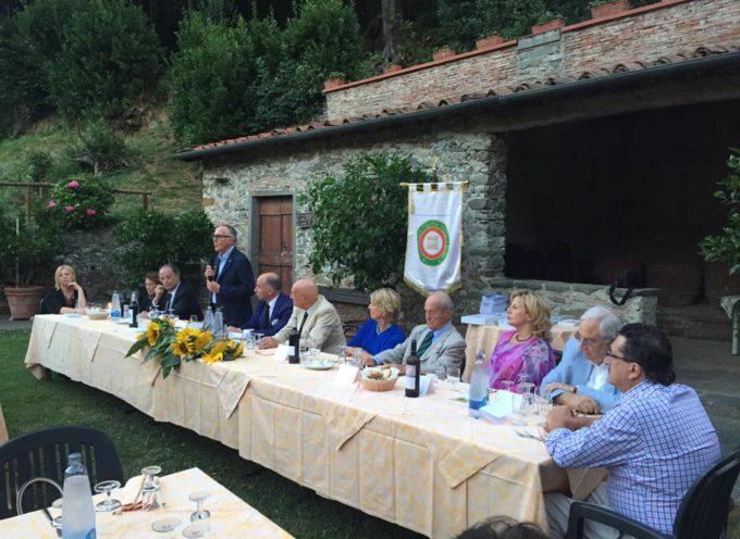 Cena dell'Accademia Italiana della Cucina al convento di Borgo a Mozzano