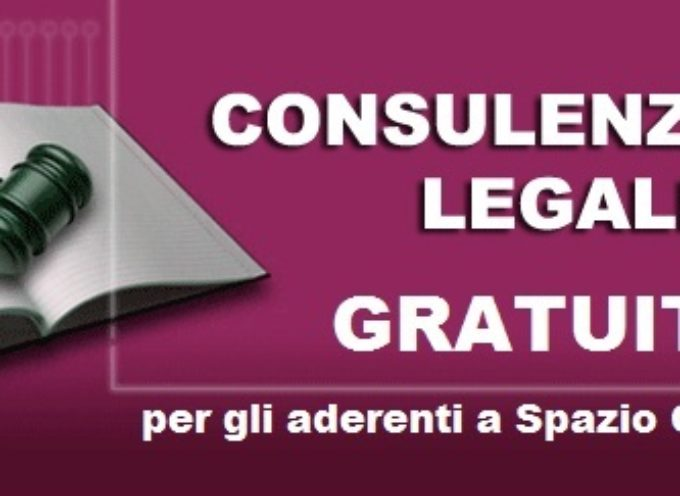 PROSEGUE L'ATTIVITA' DELLO SPORTELLO LEGALE GRATUITO RIVOLTO ALLE DONNE