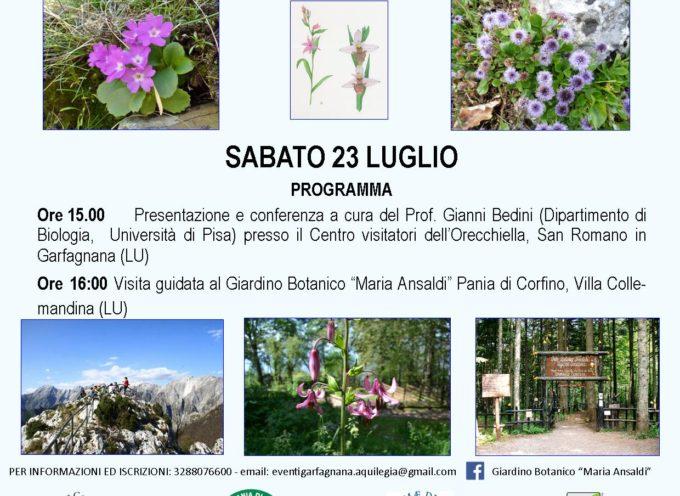 Sabato 23 luglio dalle 16 visita a: Orto Botanico Maria Ansaldi . . . alla scoperta delle Biodiversità