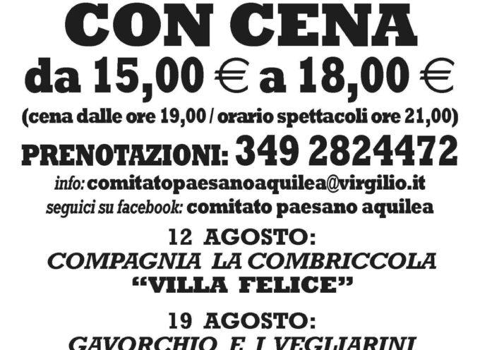 """Festival del vernacolo lucchese """"Ridi con Gusto"""" 12-19-26 agosto 2016 Aquilea LU"""