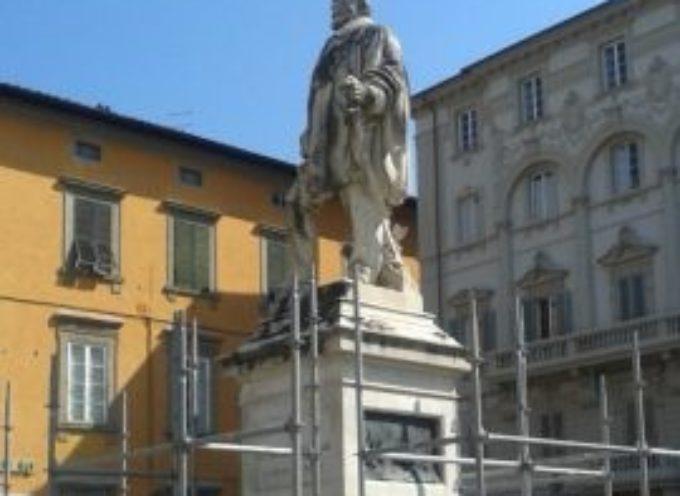 lucca – Partito il restauro della statua di Garibaldi