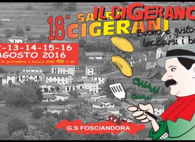 18° Sagra dei Cigerani a Migliano di Fosciandora Lu dal 12 al 16 agosto