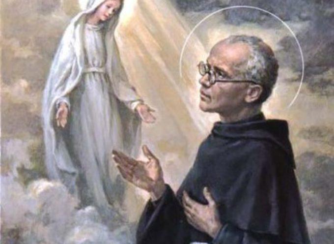 il santo del giorno 14 agosto  San Massimiliano Maria Kolbe