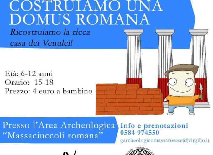 Il laboratorio si chiama Costruiamo una domus romana