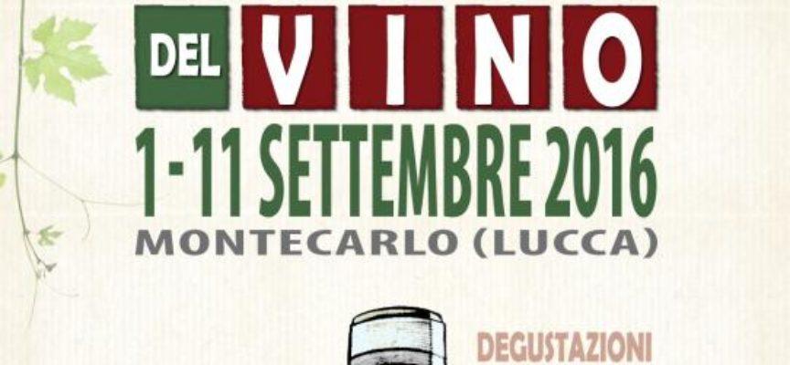 Ecco le tappe del Salotto del Vino e del Verde di Montecarlo – 49° Festa del Vino