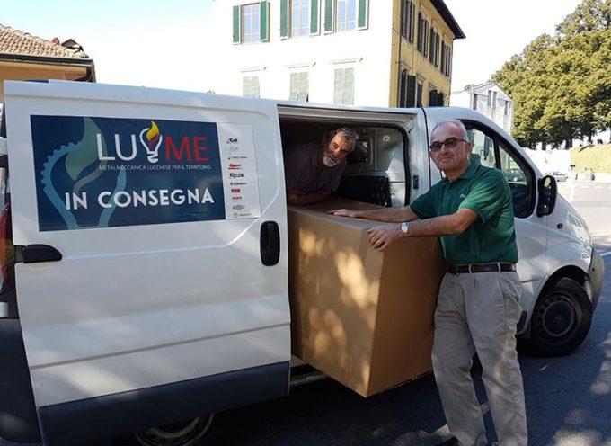 LU.ME. in consegna al Villaggio del Fanciullo di Lucca