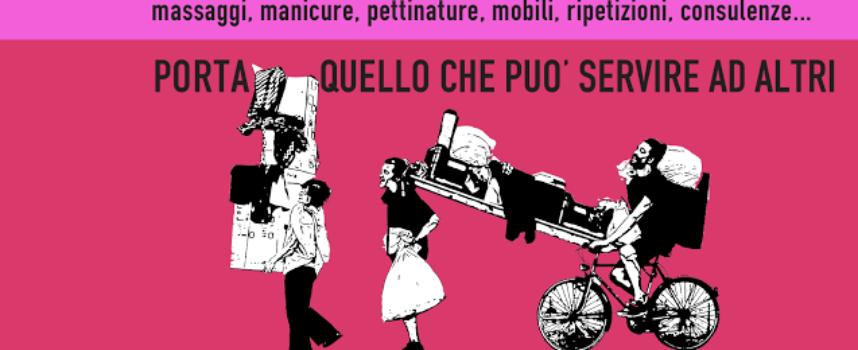 A Lucca la Festa del presente 2016 una giornata senza denaro dove tutti regalano di tutto