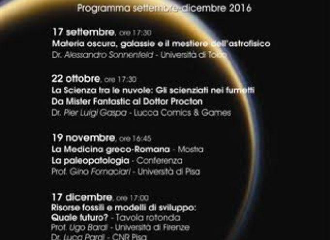 """lucca – """"Agora' della Scienza"""": riprendono gli appuntamenti Il primo incontro in programma sabato 17 settembre"""
