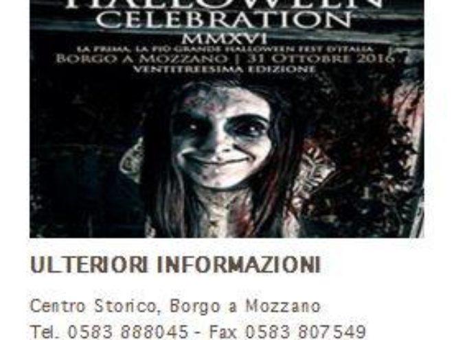 HALLOWEEN CELEBRATION – 23ª edizione A BORGO A MOZZANO