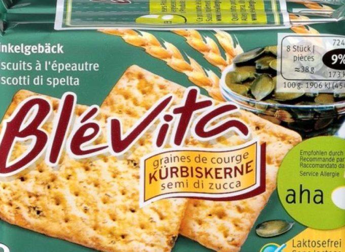 """Migros richiama i biscotti """"Blévita"""" ai semi di zucca."""