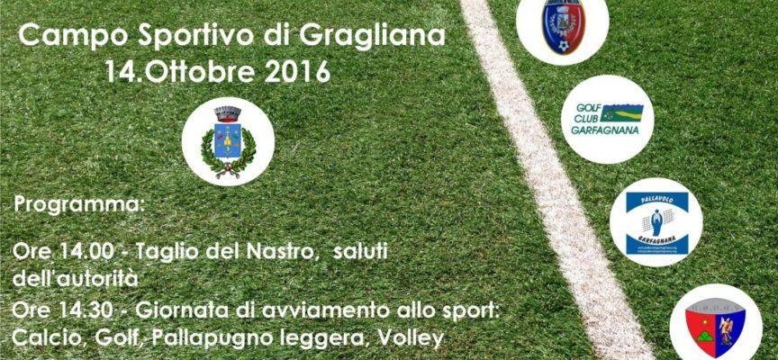 Venerdi 14 Ottobre sarà inaugurato il rinnovato Campo Comunale di Gragliana nel comune di Fabbriche di Vallico