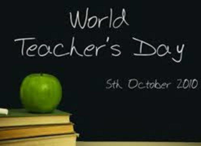 5 ottobre giornata internazionale degli insegnanti