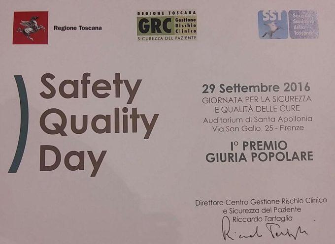 LUCCA – Qualità e sicurezza in ospedale: Medicina Legale di Lucca premiata a Firenze