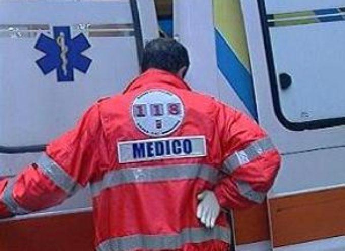 INCIDENTE STAMANI VESPA-AUTO IN CODICE ROSSO AL SAN LUCA