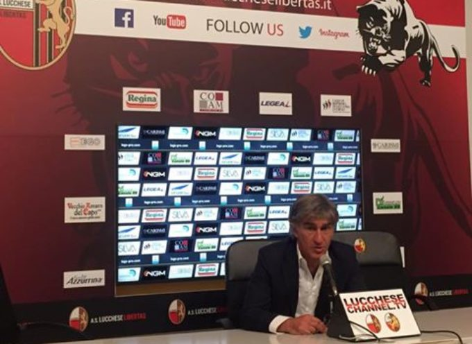 Mister Galderisi nel post partita:  e i giocatori Kastriot Dermaku e Luca Cecchini