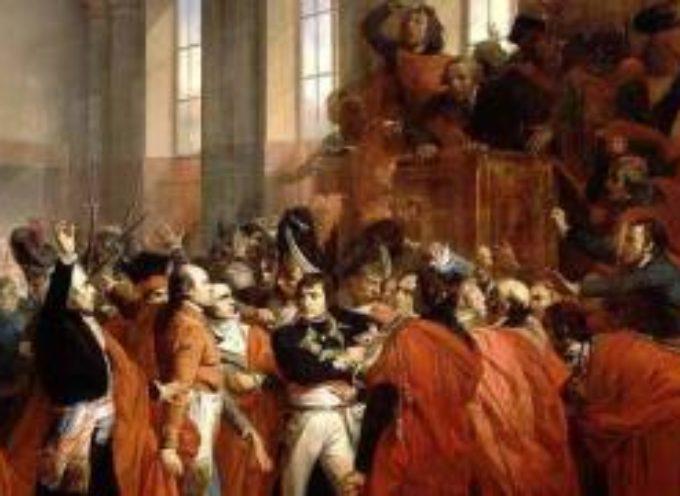 accadde oggi – 9 novembre 1799, 18 Brumaio, Napoleone attua un colpo di stato
