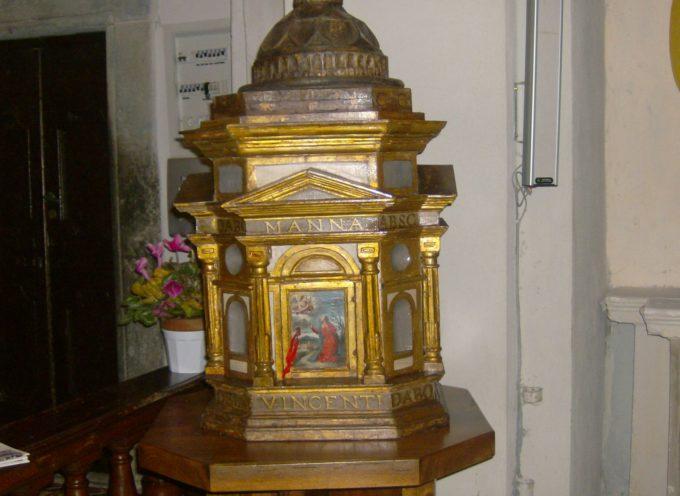 """Ritorna a Borsigliana il prezioso """"ciborio"""" dopo il restauto, sarà esposto all'interno della chiesa che già ospita un trittico di Pietro di Talada"""
