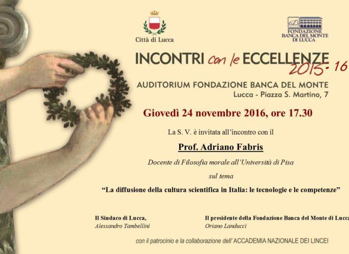 """Il filosofo Adriano Fabris parlerà de """"La diffusione della cultura scientifica in Italia"""""""