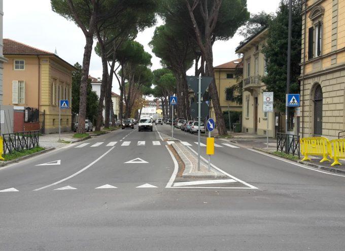 Viale Cadorna: via le barriere architettoniche e realizzazione della pista ciclabile. Modifiche alla viabilità