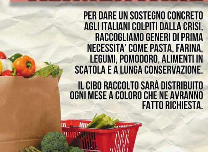 CasaPound: al via anche nella Piana la raccolta alimentare per le famiglie in difficoltà.