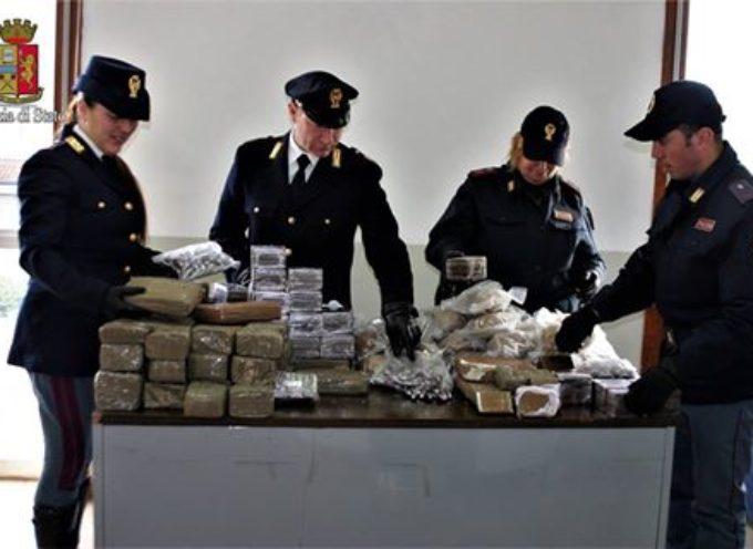 LUCCA – La Polizia di Stato cattura due corrieri e sequestra quasi un quintale di hashish.