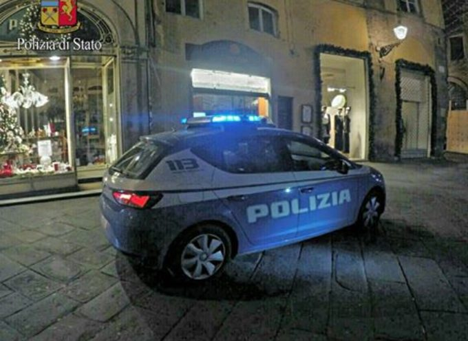 LUCCA ARRESTATO DALLA POLIZIA DOPO UNA BREVE FUGA IN CENTRO