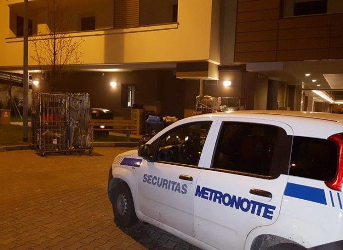I lavoratori della Securitas Metronotte San Giorgio in sciopero