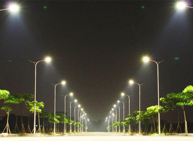 Nuova illuminazione a led, sostituiti 300 punti luce