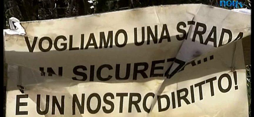 Proteste per l'abbandono della Strada provinciale 56, video