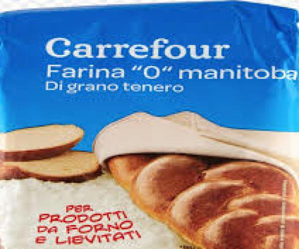 """Carrefour ritira un lotto """"FARINA DI GRANO TENERO TIPO '0' MANITOBA"""" della SIMEC Spa."""