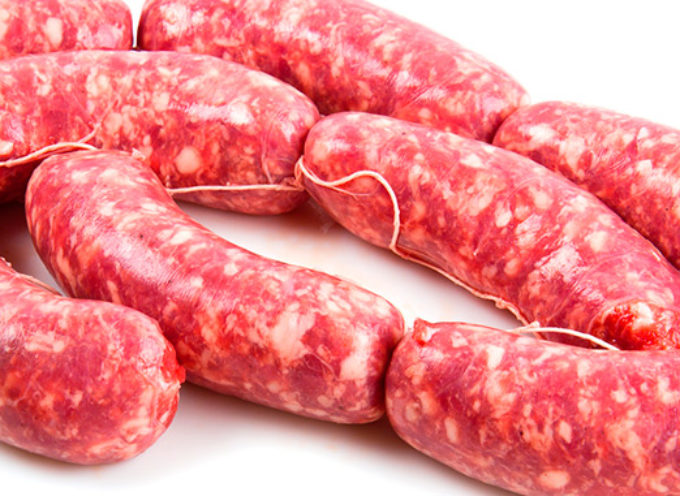 troppo antibiotico nella salsiccia di maiale refrigerata.