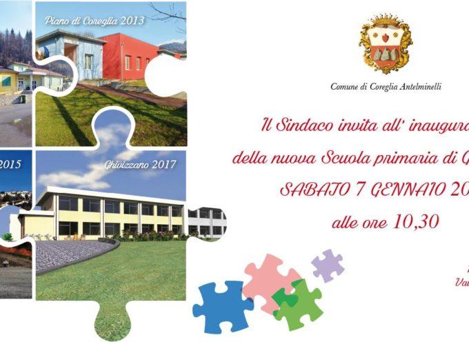 Ghivizzano: sabato 7 gennaio ore 10.30 inaugurazione nuova scuola primaria.