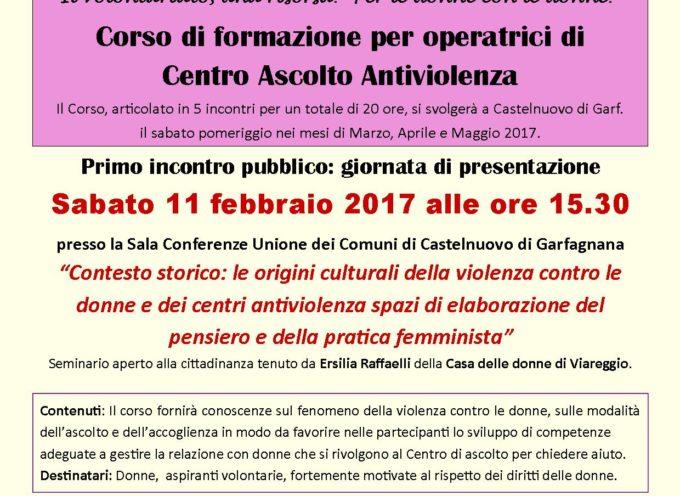 CORSO FORMAZIONE A CASTELNUOVO DI GARFAGNANA PER OPERATRICI VOLONTARIE