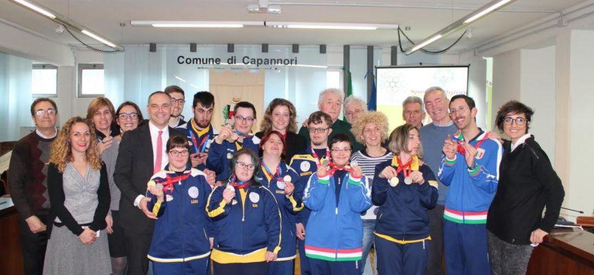 RICONOSCIMENTO DEL COMUNE AL TEAM DI 'ALLEGRA BRIGATA SPECIAL OLYMPICS LUCCA