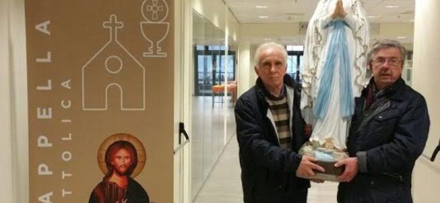 Nella Cappella dell'ospedale di Lucca la statua della Madonna di Lourdes