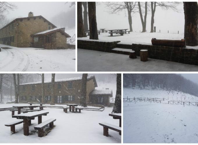 san pellegrino in alpe nevica