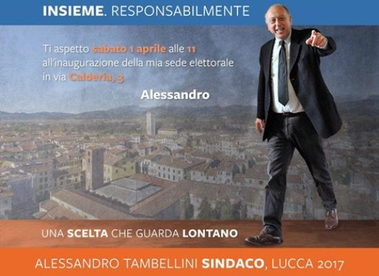 SABATO SI INAUGURA LA SEDE ELETTORALE DI ALESSANDRO TAMBELLINI