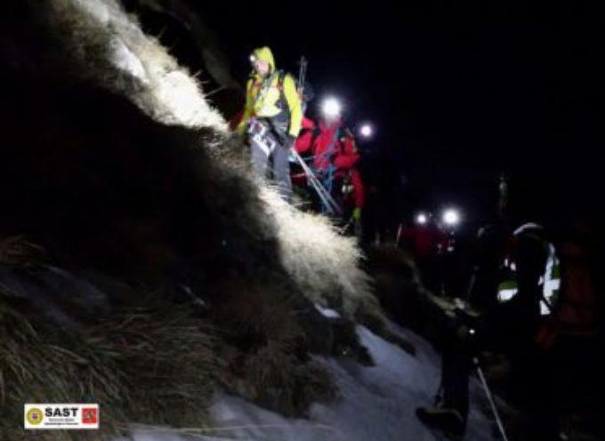 Escursionisti salvati nella notte dal Soccorso Alpino