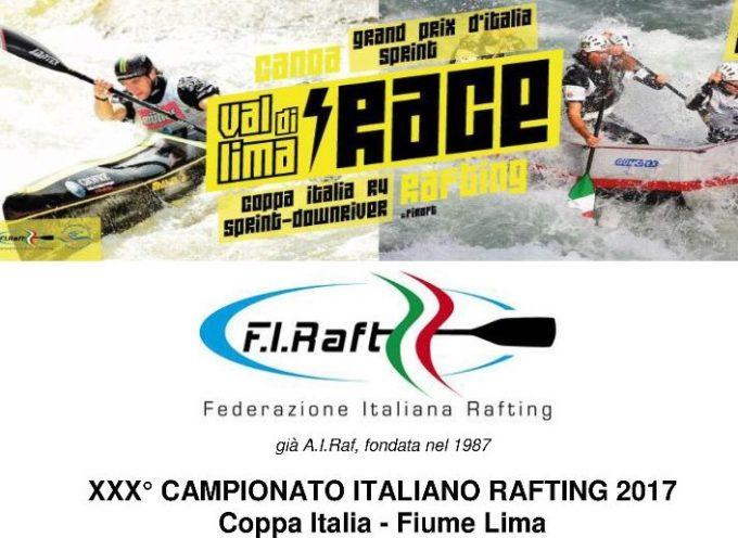 30° Campionato Italiano di Rafting 2017 sulla Lima
