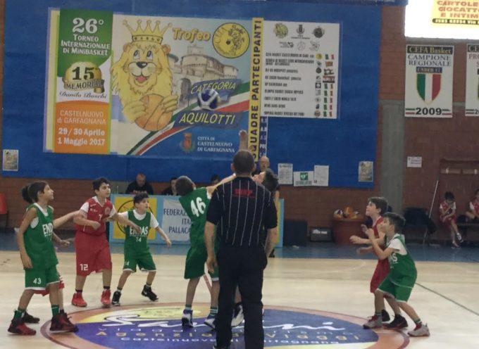 minibasket organizzato dal Cefa Basket Castelnuovo -VALDISIEVE BATTE TERRANUOVA